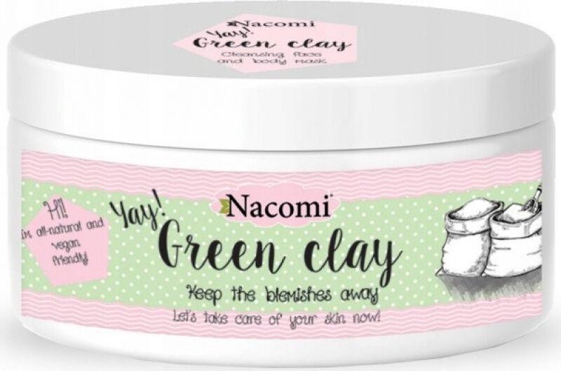Nacomi - Green Clay - Zielona glinka do twarzy i ciała - 65g