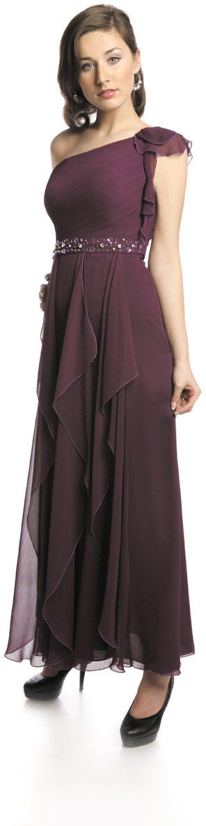 FSU738 Suknie wizytowe Sukienka PURPUROWY