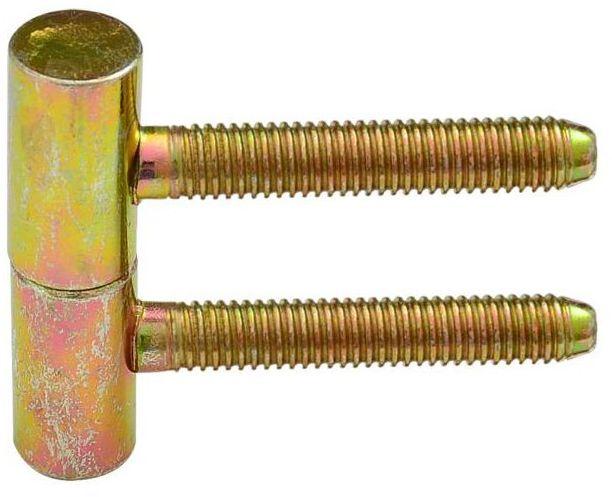 Zawias do drzwi wkręcany 13.5 x 60 mm Żółty 2 szt.