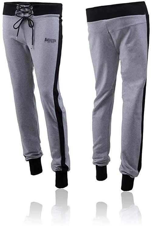 Bokserki Rues damskie szerokie spodnie do biegania, Grey Mel, XS