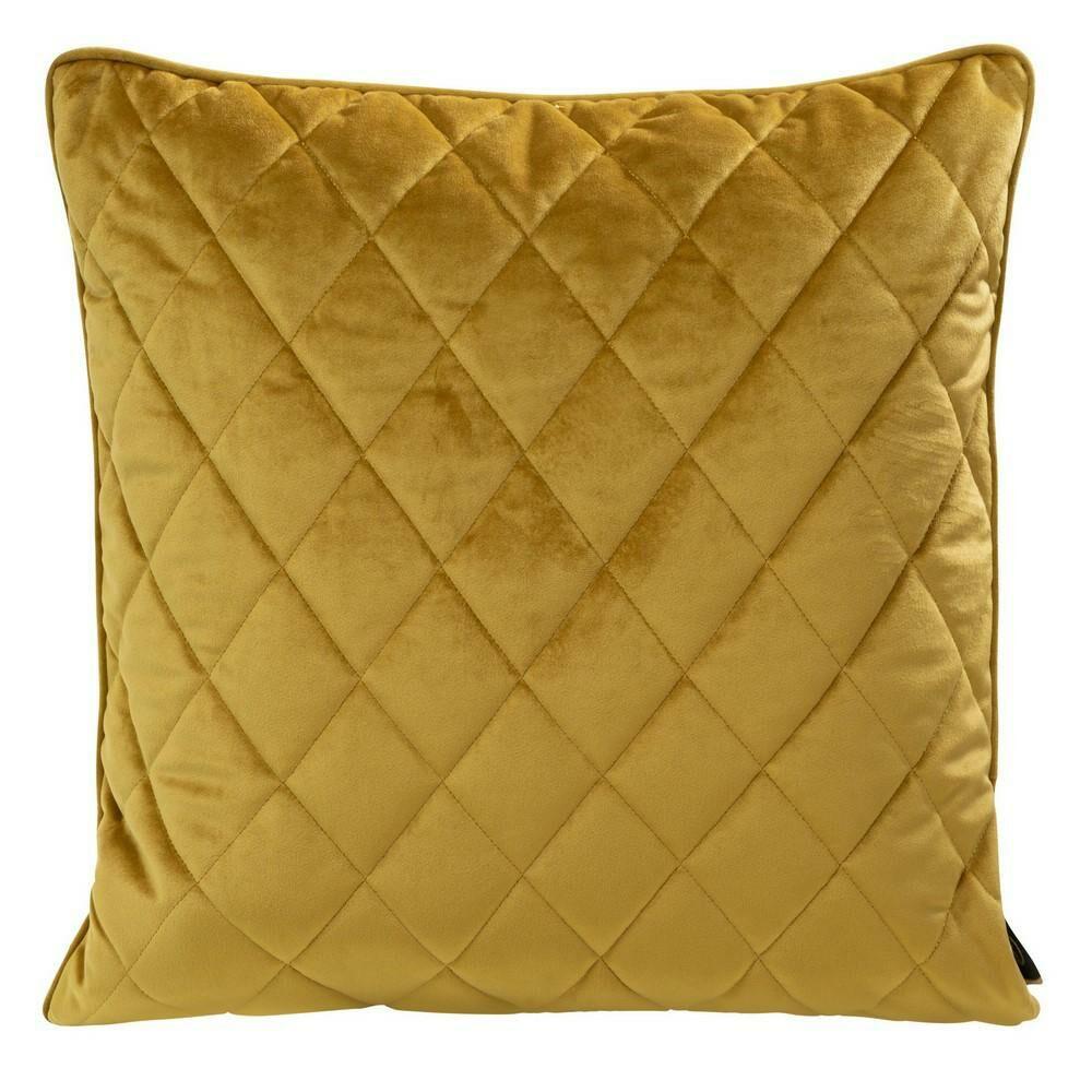 Poduszka dekoracyjna 50x50 Velvet 28 H miodowa welwetowa geometryczna Eurofirany