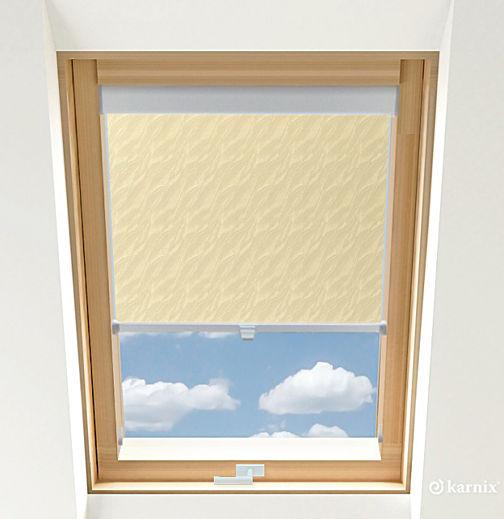 Roleta do okien dachowych BASIC AQUA - Light Yellow / Srebrny
