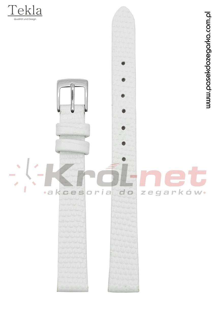 Pasek TK117B/14 - biały, imitacja jaszczurki