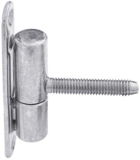 Zawias drzwiowy przykręcano-wkręcany 14 x 60 mm Biały 2 szt.