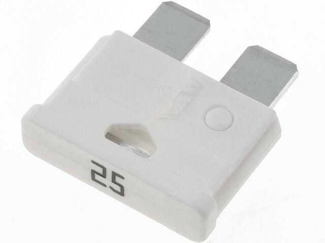 Bezpiecznik samochodowy 19mm 25A biały