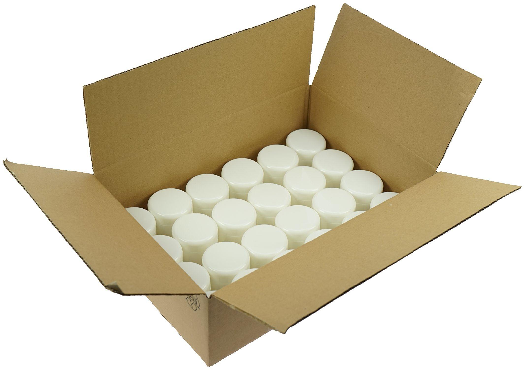 Fantasia Puszka kosmetyczna z tworzywa sztucznego na 50 ml, biała, 1 opakowanie (1 x 24 sztuki)
