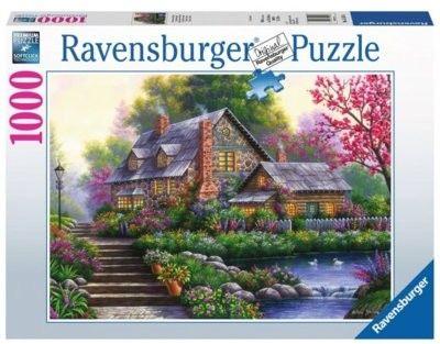 Puzzle Ravensburger 1000 - Romantyczny domek, Romantic Cottage