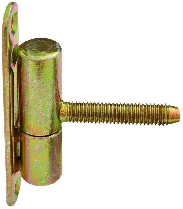 Zawias drzwiowy przykręcano-wkręcany 14 x 60 mm Żółty 2 szt.