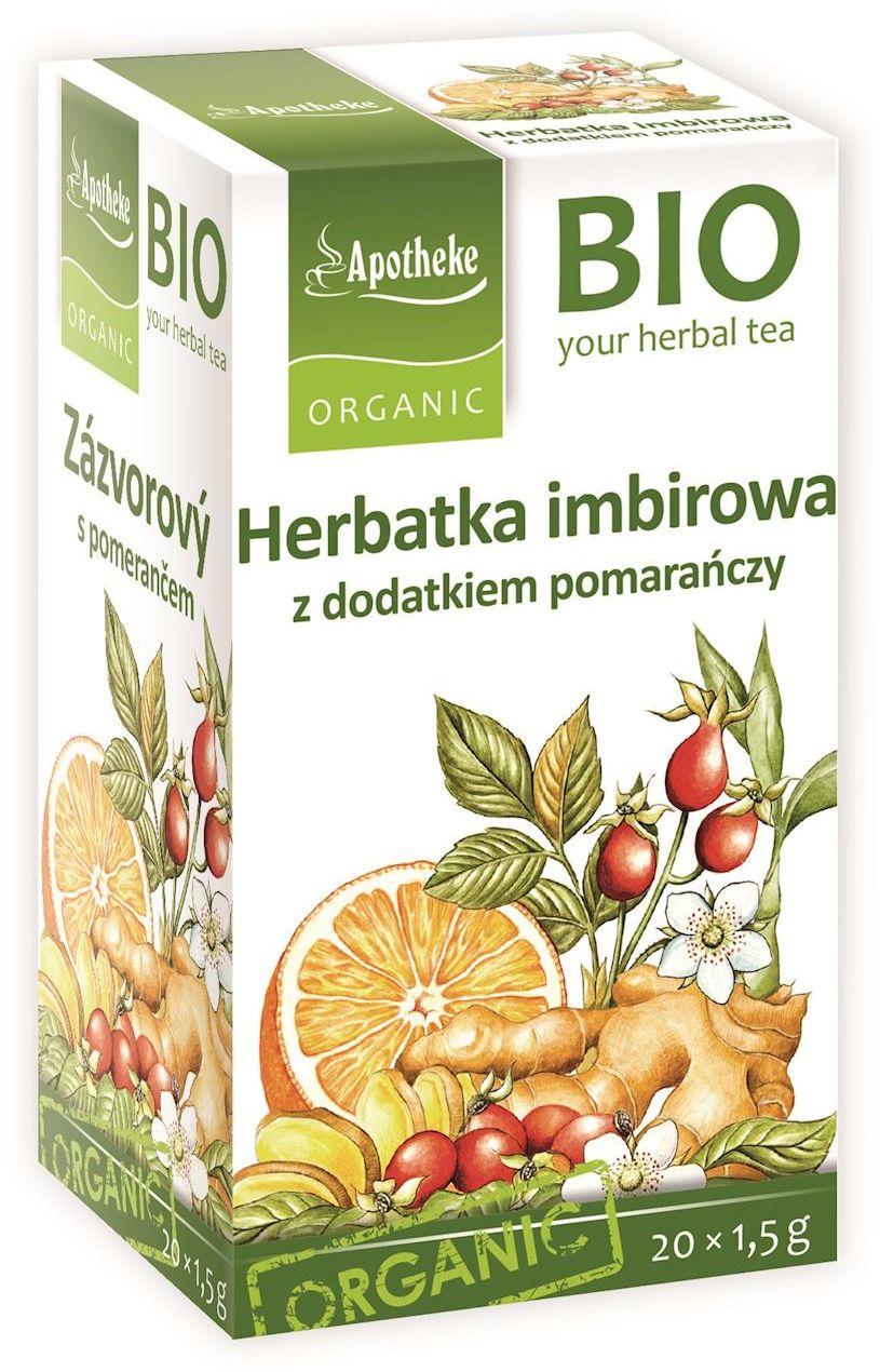 Herbatka imbir - pomarańcza bio 20 x 1,5 g - apotheke
