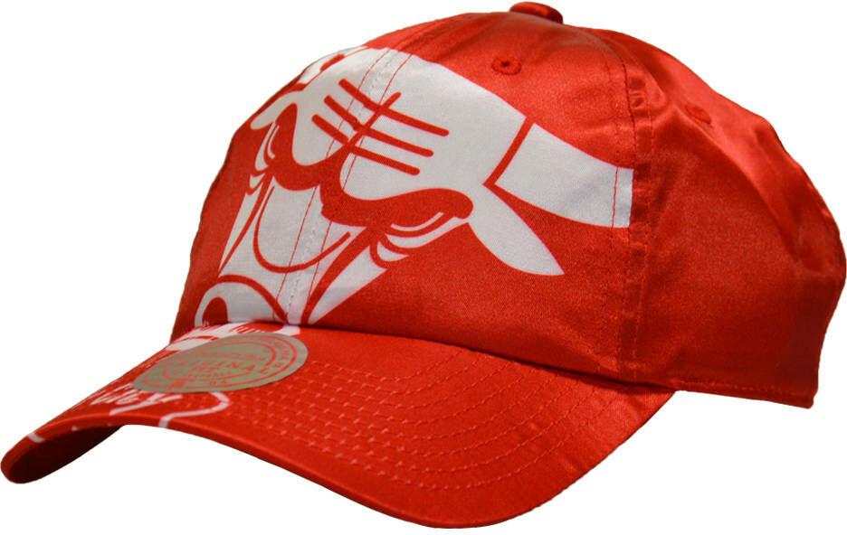 Czapka z daszkiem Mitchell & Ness NBA Chicago Bulls Strapback czerwona