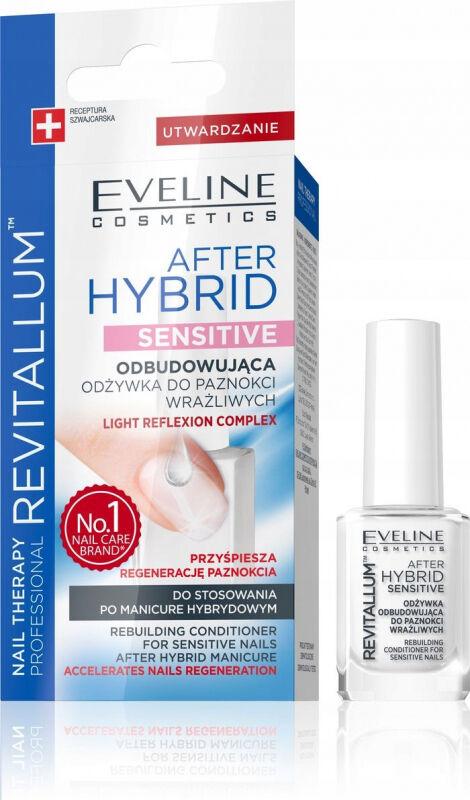 Eveline Cosmetics - NAIL THERAPY PROFESSIONAL - REVITALUM - AFTER HYBRID SENSITIVE - Odbudowująca odżywka do wrażliwych paznokci - Po manicure hybrydowym - 12 ml