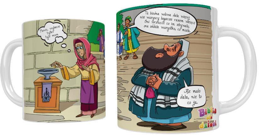 Kubek religijny Wdowi grosz