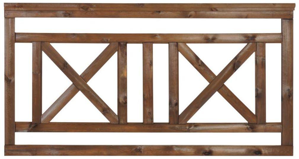Płot tarasowy 180x90 cm drewniany NIVE NATERIAL