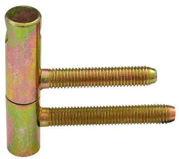 Zawias do drzwi wkręcany 15 x 60 mm Żółty 2 szt.