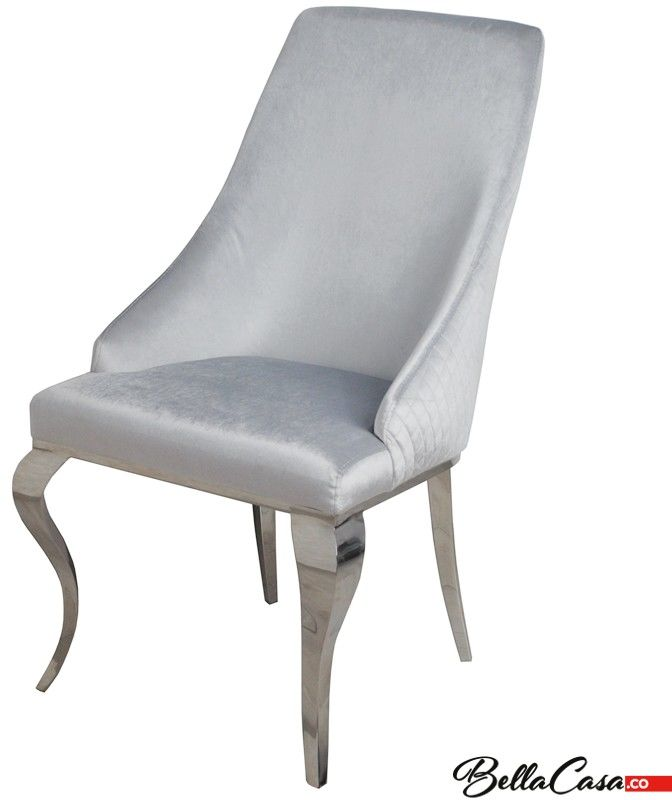 Krzesło glamour William Silver - nowoczesne krzesło tapicerowane