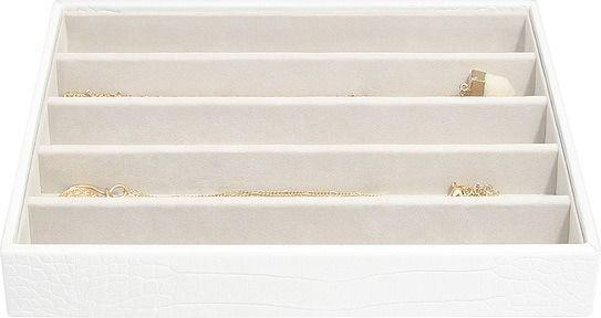 Szkatułka na biżuterię stackers croc pięciokomorowa classic biała