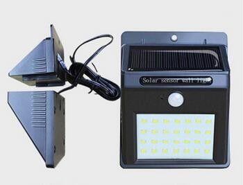 Solarna lampa 28 LED z czujka PIR