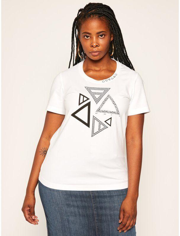 Persona by Marina Rinaldi T-Shirt Vale 1971010 Biały Regular Fit