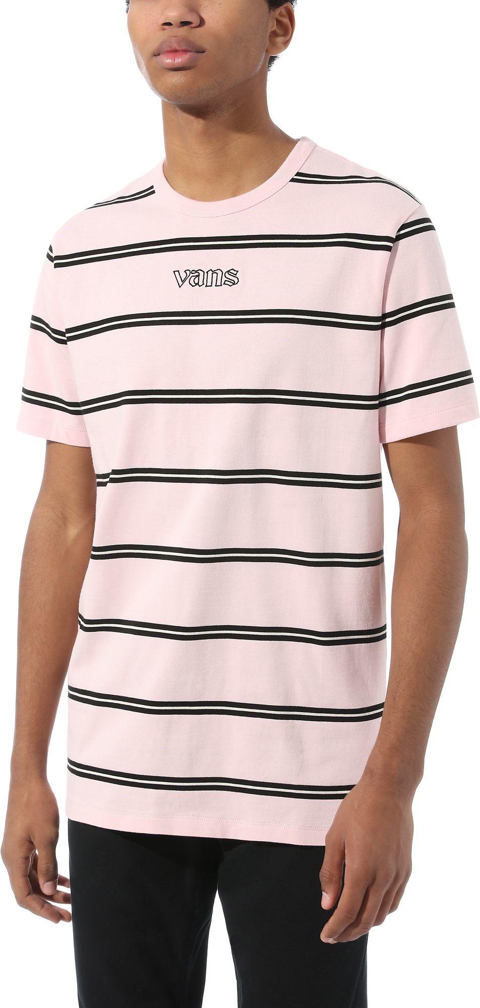 t-shirt męski VANS SIXTY SIXERS STRIPE SS Vans Cool Pink