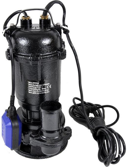 Pompa z rozdrabniaczem do wody szamba 550W pływak