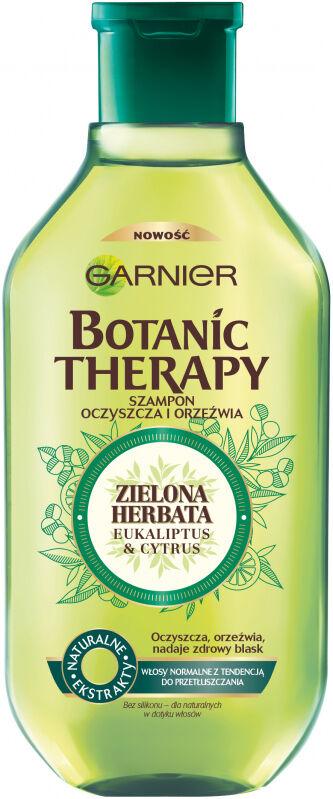GARNIER - BOTANIC THERAPY - Oczyszczająco-orzeźwiający szampon do włosów normalnych i przetłuszczających się - Zielona Herbata , Eukaliptus & Cytrus - 250 ml