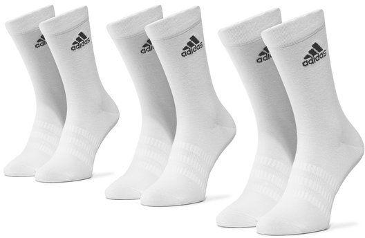 adidas Zestaw 3 par wysokich skarpet unisex Light Crew 3Pp DZ9393 Biały