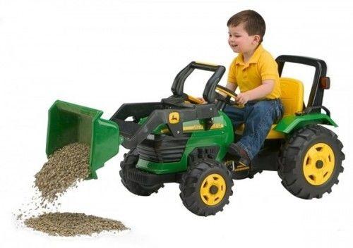 Traktor Koparka z Łyżką na Akumulator John Deere Power Pull Peg Perego