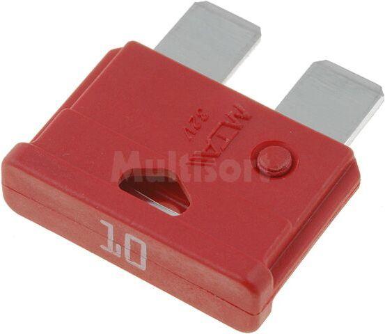 Bezpiecznik samochodowy 19mm 10A czerwony