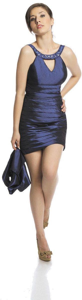 FSU740 Suknie wizytowe Sukienka CHABROWY CIEMNY