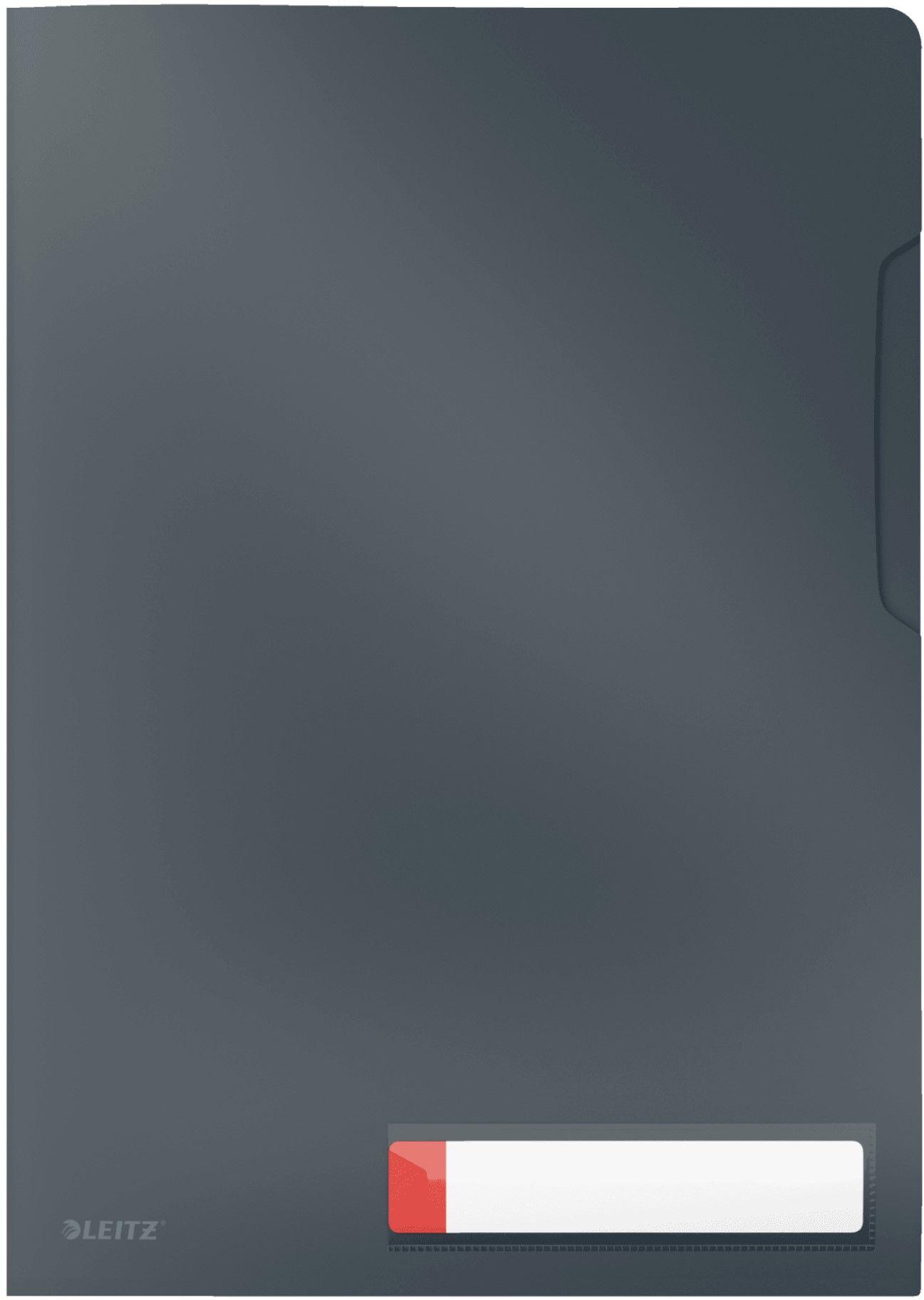 Folder A4 kieszonka na etykietę szary Leitz Cosy 47080089