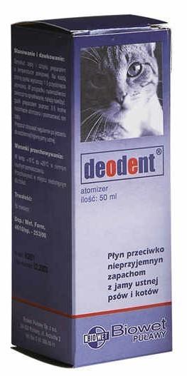Deodent - płyn do jamy ustnej dla psów i kotów 50ml