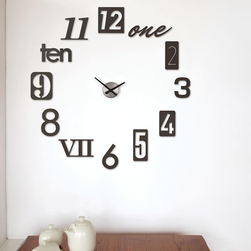 Zegar ścienny Numbra czarny mat