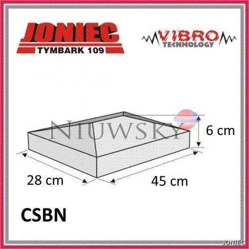 Daszek na słupek CSBN 45x28x6 (gorc L) kolor czarny / Joniec