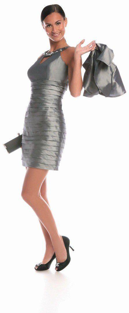 FSU740 Suknie wizytowe Sukienka SZARY