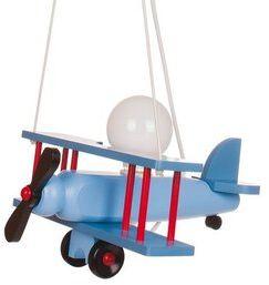 Lampa samolot duży - niebiesko/czerwono/czarny