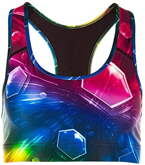Winshape Biustonosz damski Bustier funkcjonalny SB101, Cosmic, styl All-Fit, fitness, czas wolny, sport, joga, trening XL