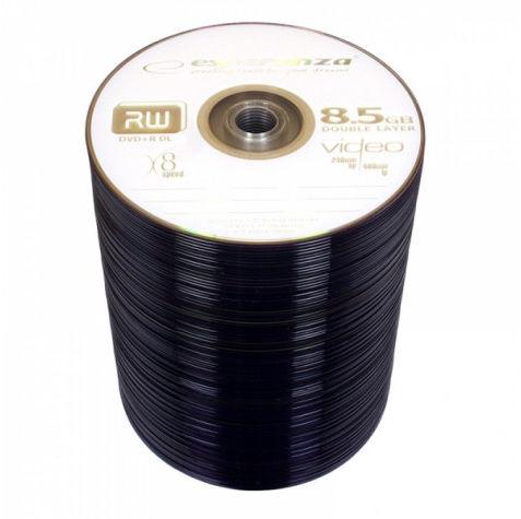 1243 Dvd+r esperanza 8,5gb x8 dl - szpindel 100 szt.