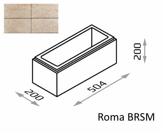 Bloczek murkowy Roma BRSM 50,4/20/20 kolor topaz / Joniec
