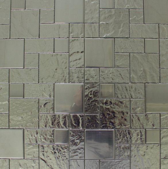 MIDAS - Mozaika szklana 6mm A-MGL06-XX-007 srebrna