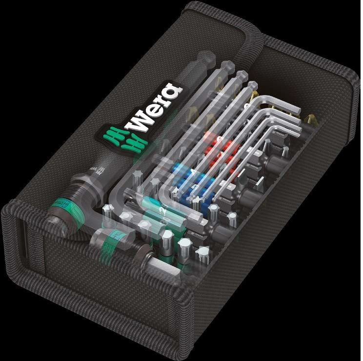 """zestaw 52szt. bitów z wkrętakiem 1/4"""" i kluczami imbusowymi, Kraftform Kompakt 100 2go WERA [05057460001]"""