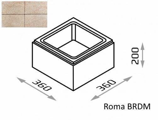 Bloczek słupkowy Roma BRDM 36/36/20 kolor topaz / Joniec