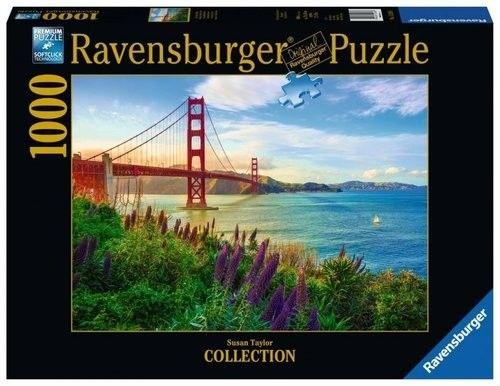 Puzzle Ravensburger 1000 - Most Golden Gate, Golden Gate Sunrise