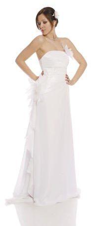 FSS592 Suknie Ślubne Suknia BIAŁY