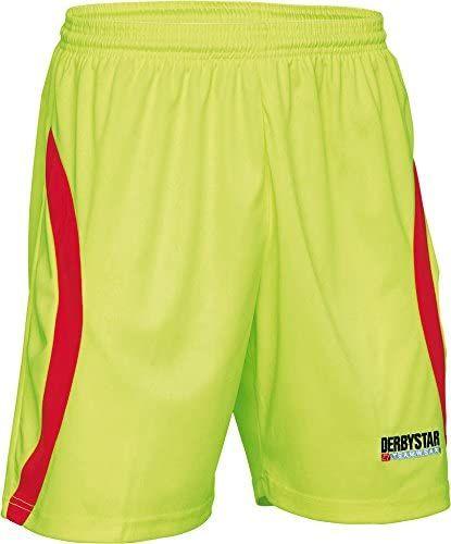 Derbystar Spodnie bramkarskie Aponi, XXL, żółto-czerwone, 6636070530