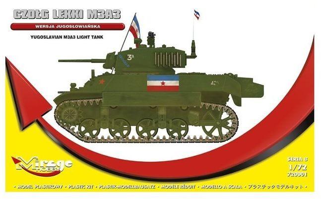 Czołg lekki M3A3 model do sklejania Mirage Hobby