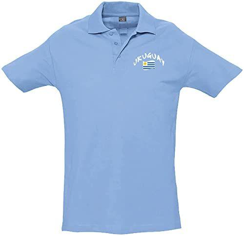 Supportershop Dziecięca koszulka polo Rugby Uruguay XL niebieska