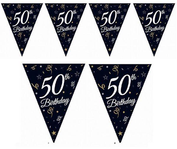 Girlanda urodzinowa flagi 50th Birthday 28x270cm GP-GF50