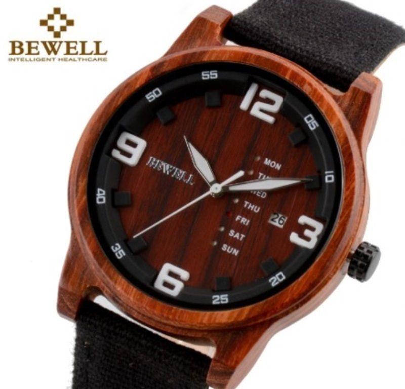 Zegarek Drewniany Bewell ZS-W156A Czarny + Pudełko drewniane