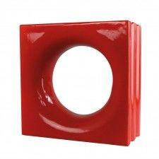 Loop Red pustak ceramiczny 19x19x8 cm Style''n Art Deco Idea