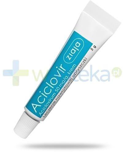 Ziaja Aciclovir krem 50mg/g na opryszczkę warg i twarzy 5 g